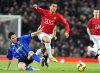 Cristino Ronaldo hefur hér betur í einvígi við Stewart...