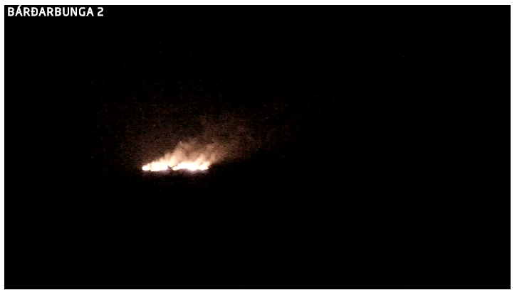 The eruption from webcam 2