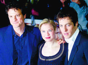 Bridget Jones: Colin Firth, Renée Zellweger og Hugh Grant.